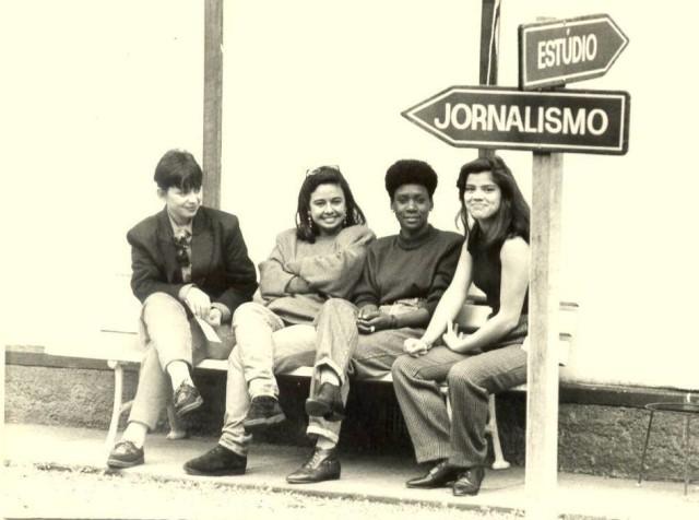 canal 12 Foto histórica do jornalismo da TV Paranaense, 1989