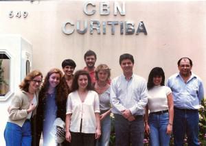 Equipe da CBN Curitiba em 1998.