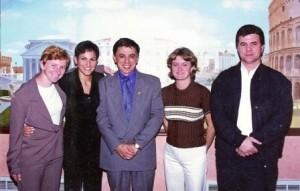 Visita de Heródoto Barbeiro da CBN São Paulo em 1998.
