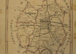 Mapa de Curitiba em 1953 - Portal JWS