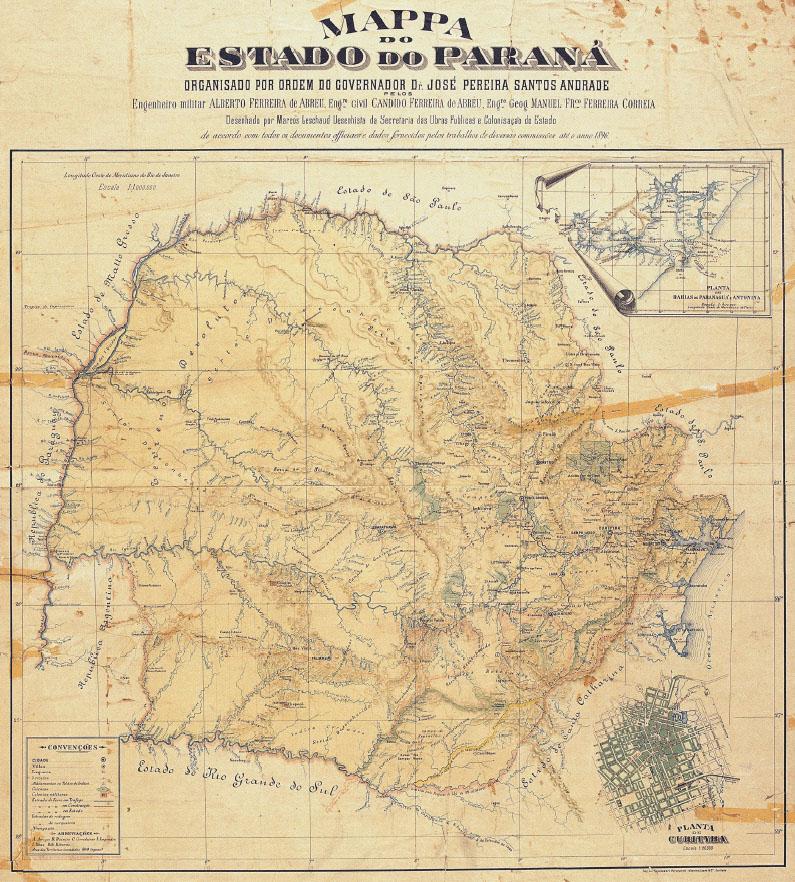 mapa do paraná em 1986