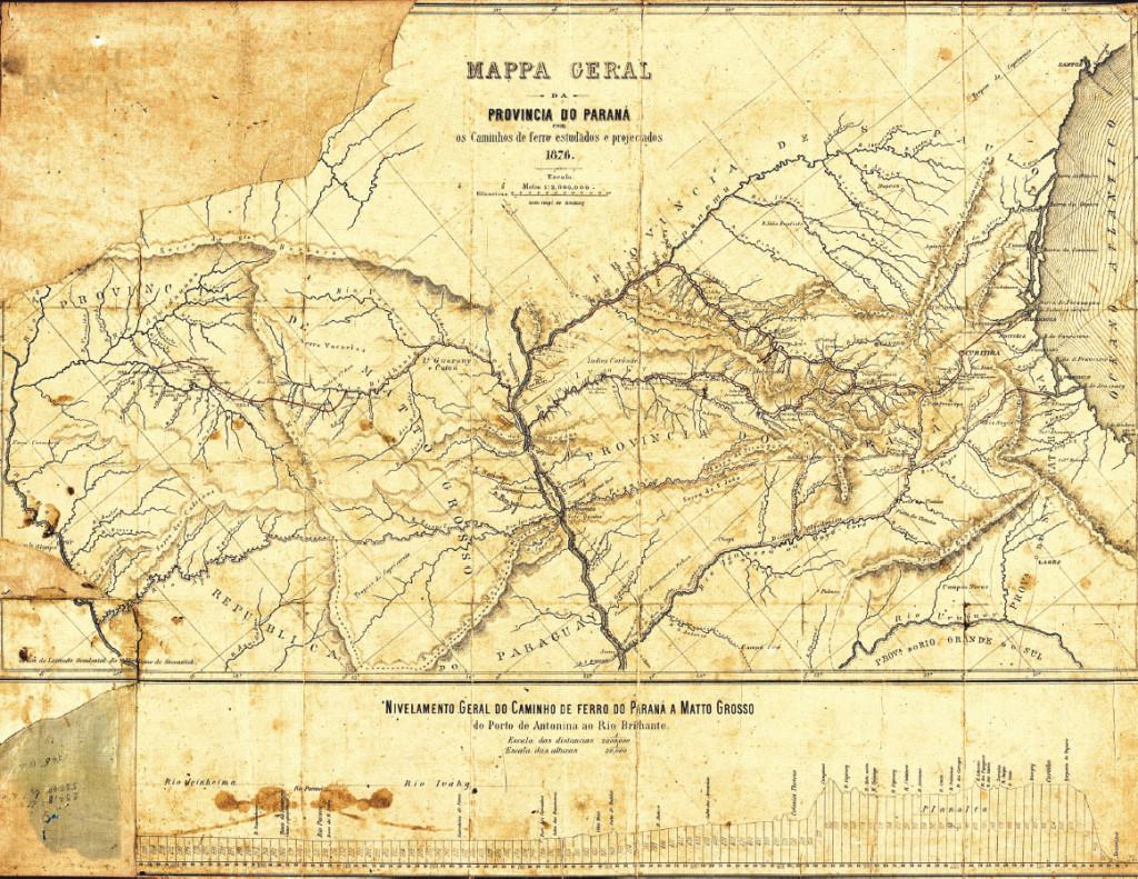 mapa paraná 1876