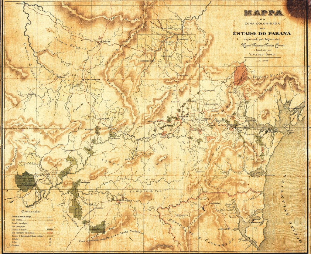mapa paraná 1892