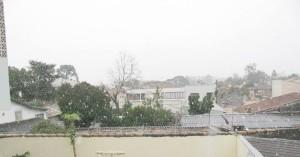 Neve em Araucária. Foto de Macel Arantes.