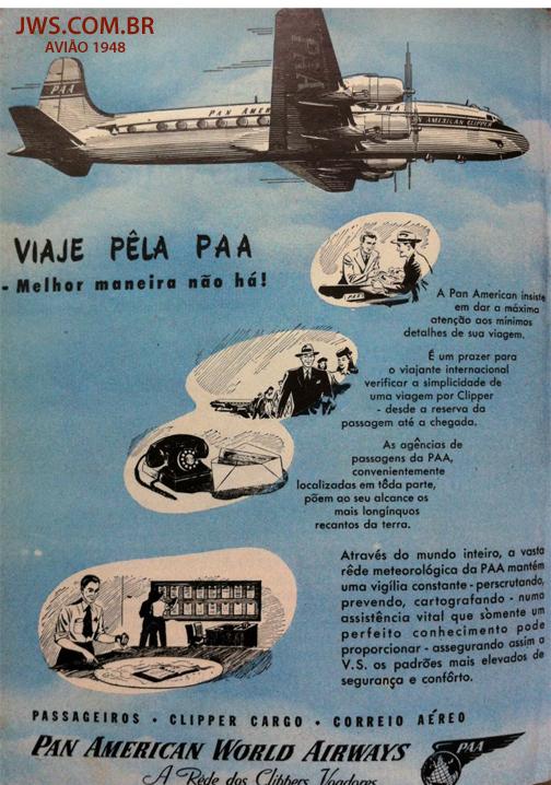 avião paa 1948 jws