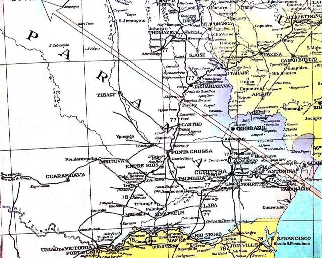 paraná mapa anos 30
