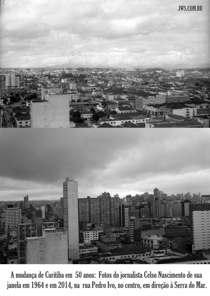 curitiba em 1964 e 2014 - Fotos do jornalista Celso Nascimento - jws