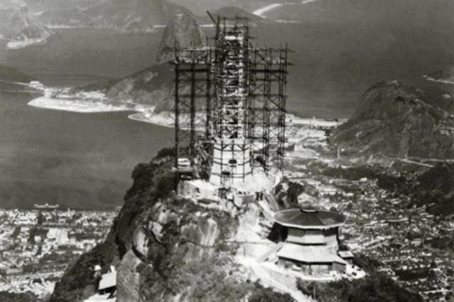 rj --------- Construção do Cristo Redentor . 1930