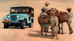 jeep azul anúncio 1960