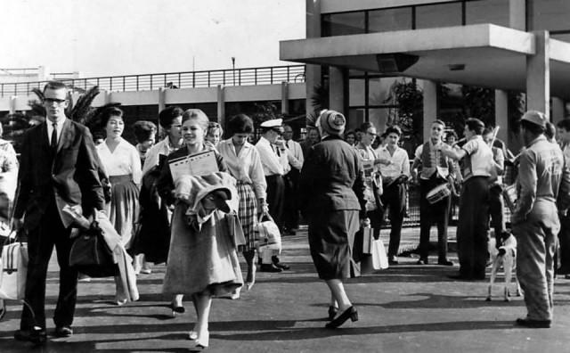 aviação ------ Aeroporto de Congonhas em São Paulo na década de 50.
